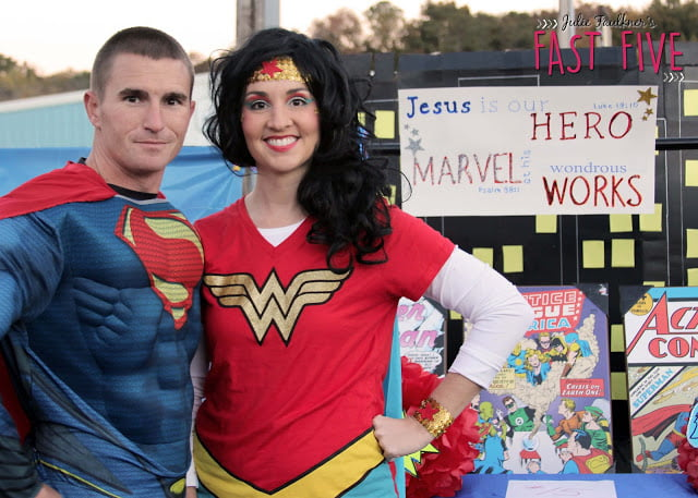 Trunk or Treat Ideas for Church with Bible Themes, Superman, Superhero, Wonder Woman