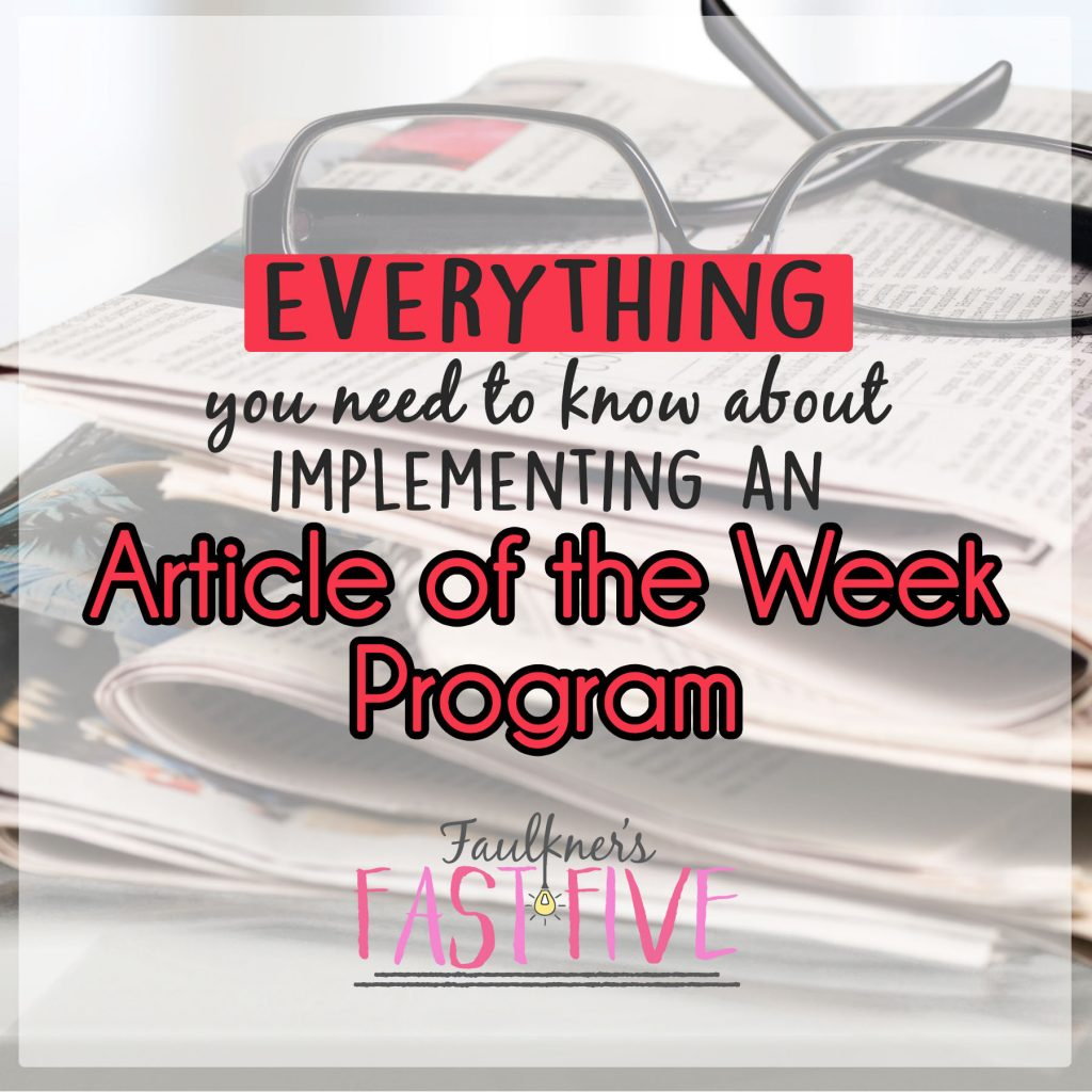 Everything You Need to Know about Article of the Week